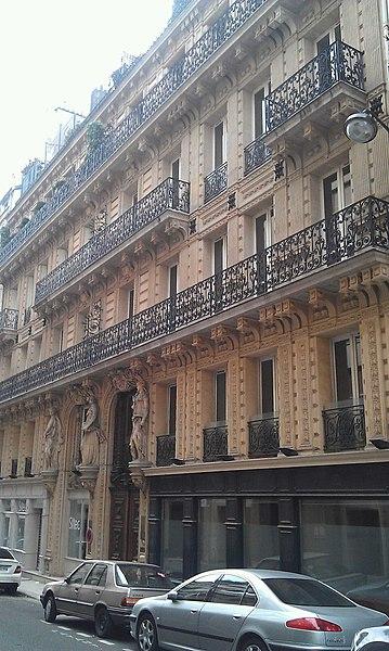 Photo du Monument Historique Immeuble situé à Paris 8e Arrondissement