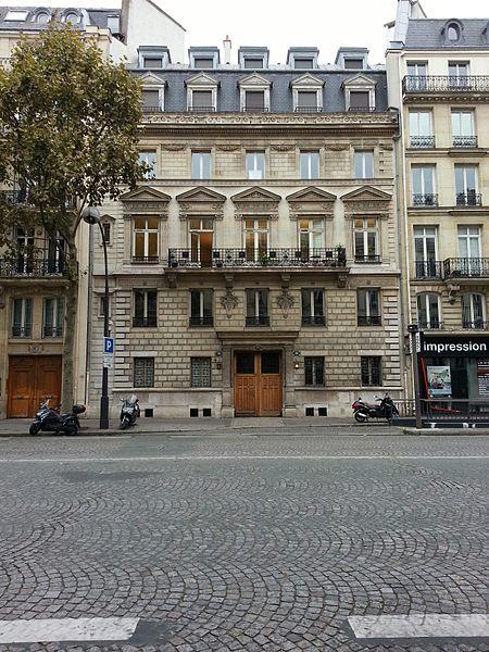 Photo du Monument Historique Ancien hôtel Sédille situé à Paris 8e Arrondissement