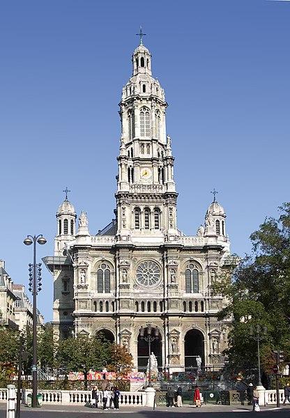 Photo du Monument Historique Eglise de la Trinité situé à Paris 9e Arrondissement