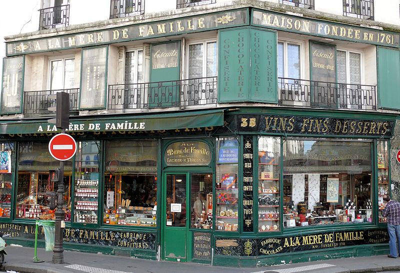 Photo du Monument Historique Epicerie fine A la mère de famille situé à Paris 9e Arrondissement