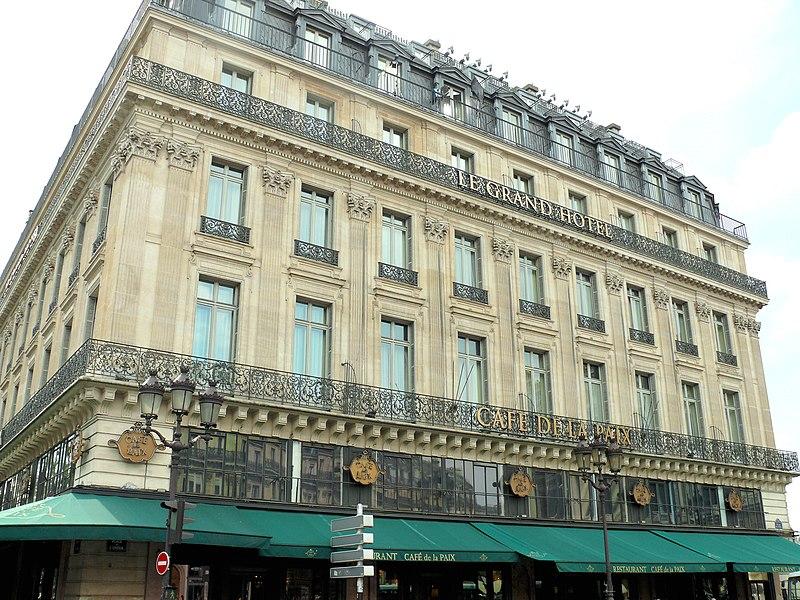 Photo du Monument Historique Grand Hôtel situé à Paris 9e Arrondissement