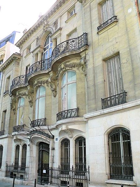 Photo du Monument Historique Ancien hôtel de Choudens situé à Paris 9e Arrondissement