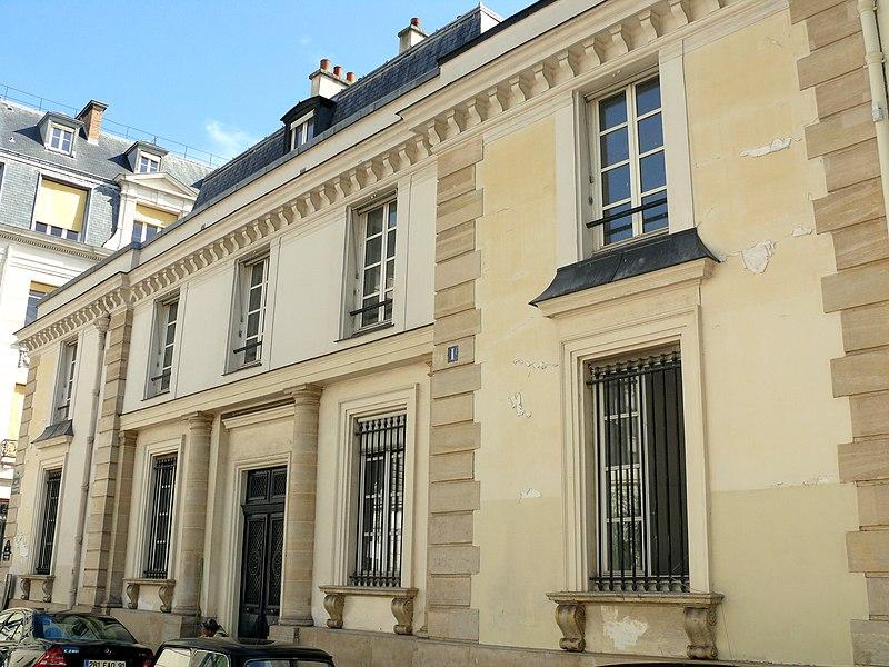 Photo du Monument Historique Ancien hôtel de Mademoiselle Mars situé à Paris 9e Arrondissement