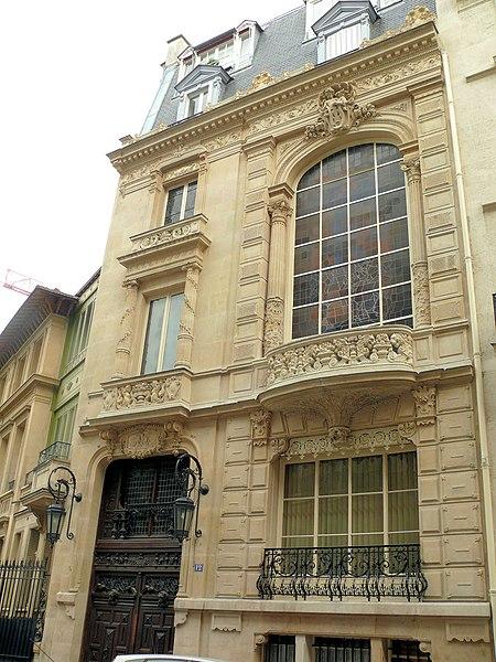 Photo du Monument Historique Immeuble, dit aussi hôtel Judic situé à Paris 9e Arrondissement