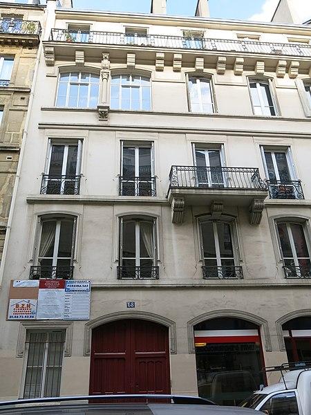Photo du Monument Historique Maison construite par Viollet-le-Duc situé à Paris 9e Arrondissement