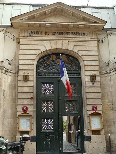 Photo du Monument Historique Mairie annexe du neuvième arrondissement situé à Paris 9e Arrondissement