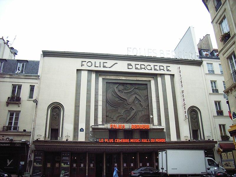 Photo du Monument Historique Théâtre des Folies-Bergère situé à Paris 9e Arrondissement