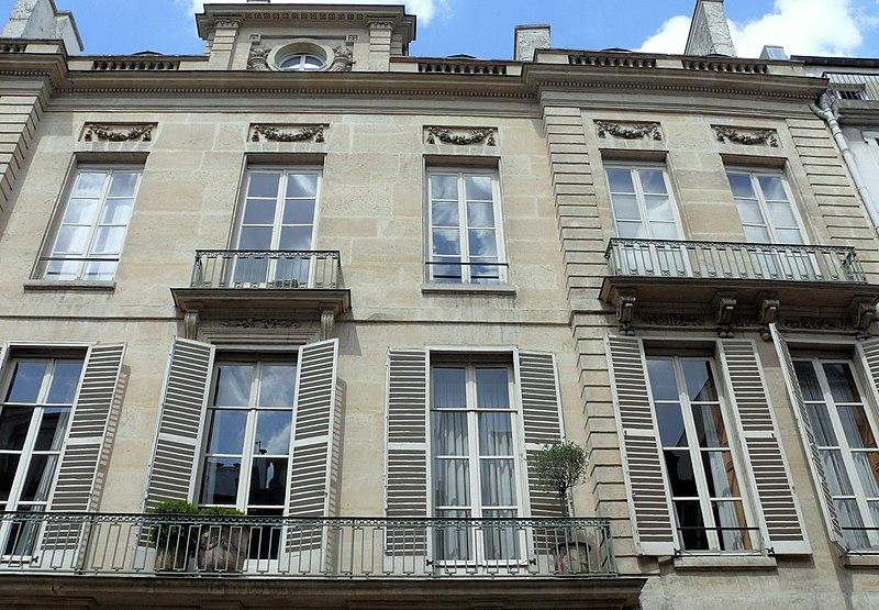Photo du Monument Historique Ancien hôtel de Biéville situé à Paris 9e Arrondissement