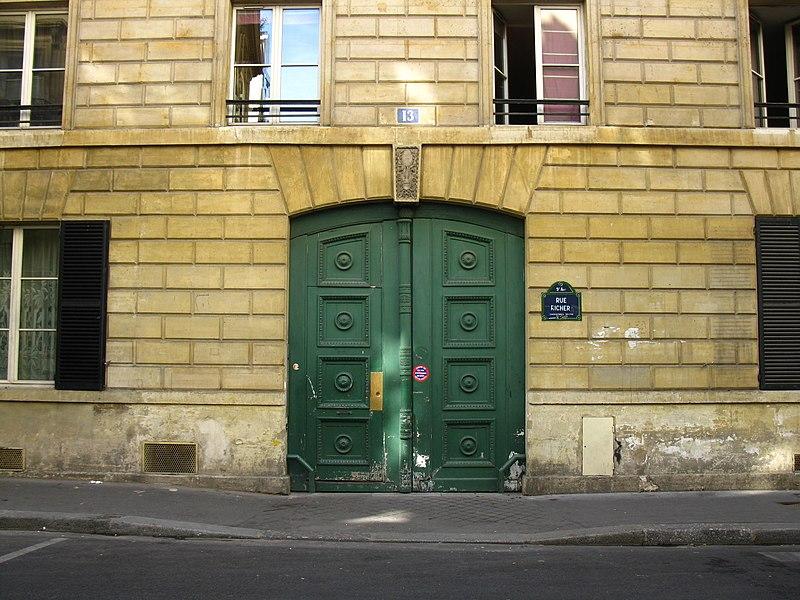 Photo du Monument Historique Immeubles appelés Hôtel des Maréchaux situé à Paris 9e Arrondissement