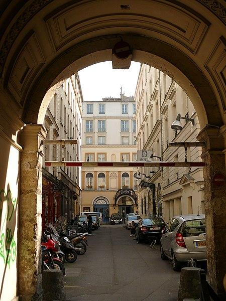 Photo du Monument Historique Cité Bergère situé à Paris 9e Arrondissement