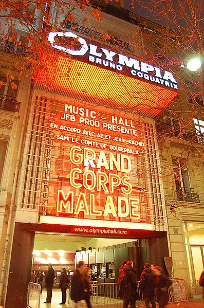 Photo du Monument Historique Théâtre de l'Olympia situé à Paris 9e Arrondissement