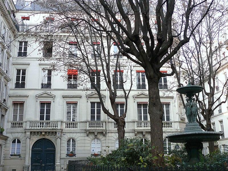 Photo du Monument Historique Cité Trévise situé à Paris 9e Arrondissement