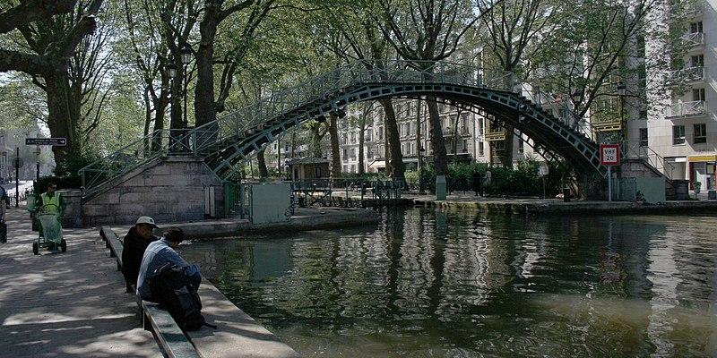 Photo du Monument Historique Canal Saint-Martin situé à Paris 10e Arrondissement