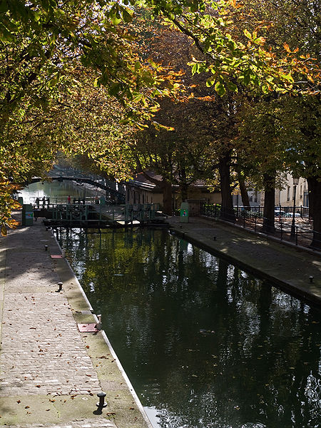 Photo du Monument Historique Canal Saint-Martin situé à Paris 11e Arrondissement
