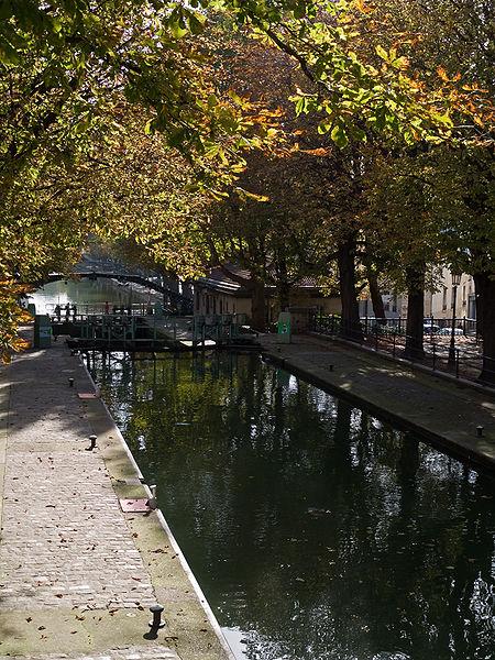 Photo du Monument Historique Canal Saint-Martin situé à Paris 11e Arrondissement