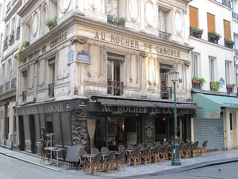 Photo du Monument Historique Ancien restaurant Le Rocher de Cancale situé à Paris 2e Arrondissement