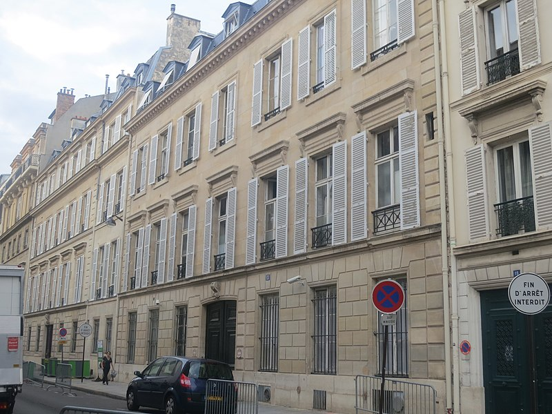 Photo du Monument Historique Hôtel Delaforest dit hôtel Lebel situé à Paris 7e Arrondissement