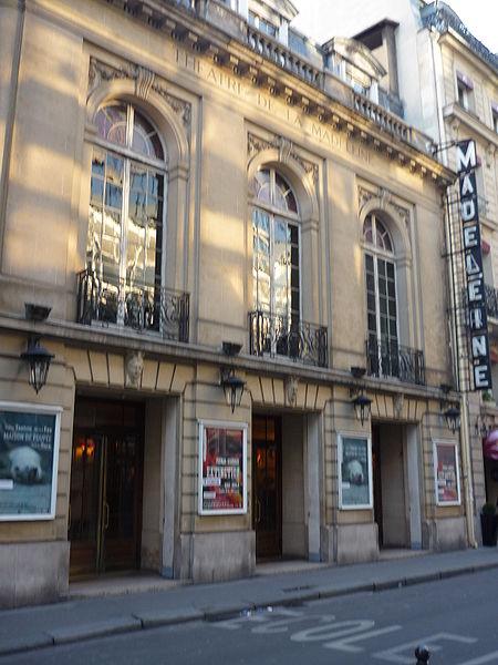 Photo du Monument Historique Théâtre de la Madeleine situé à Paris 8e Arrondissement