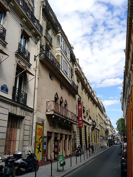 Photo du Monument Historique Théâtre des Mathurins situé à Paris 8e Arrondissement