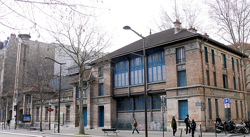 Photo du Monument Historique Gymnase Jean-Jaurès situé à Paris 19e Arrondissement