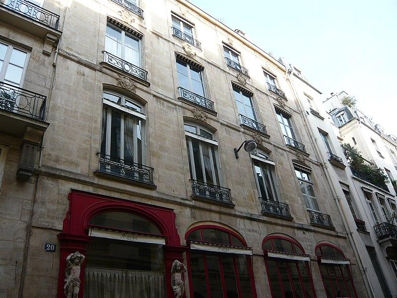 Photo du Monument Historique Immeuble (restaurant Le Mercure Galant) situé à Paris 1er Arrondissement