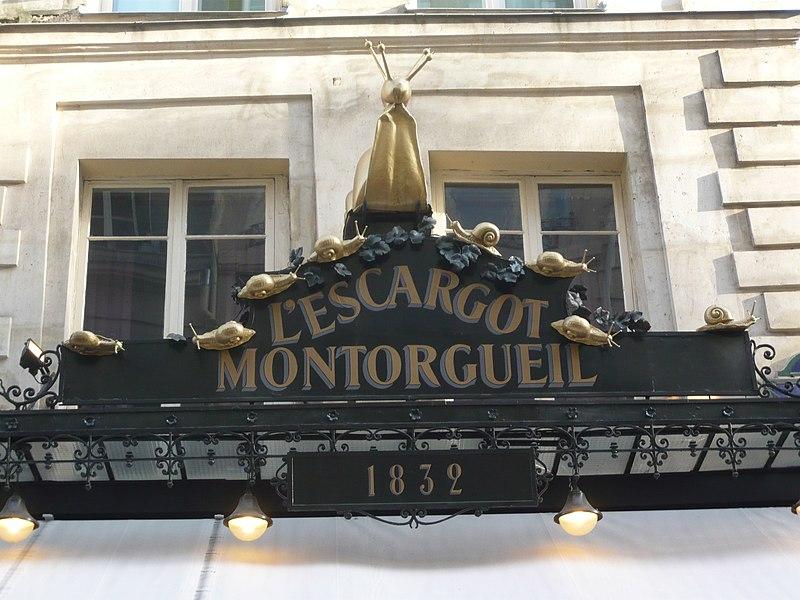 Photo du Monument Historique Restaurant l'Escargot Montorgueil situé à Paris 1er Arrondissement