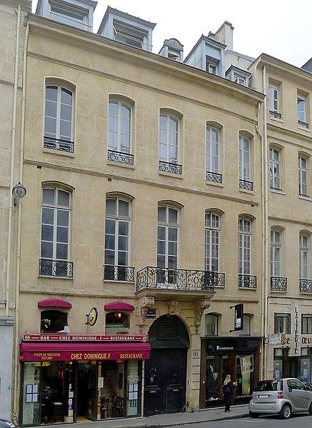 Photo du Monument Historique Immeuble situé à Paris 1er Arrondissement