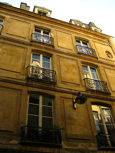 Photo du Monument Historique Ancien hôtel de Saint-Cyr situé à Paris 6e Arrondissement