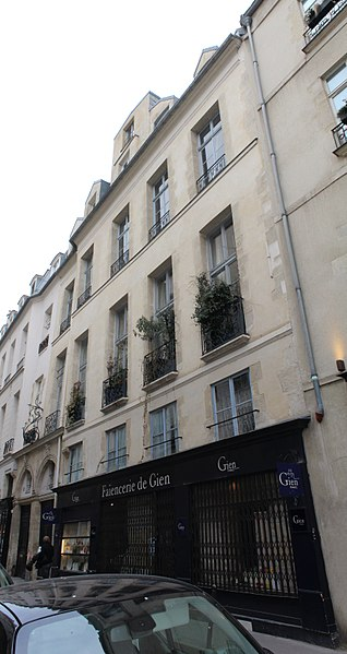 Photo du Monument Historique Immeuble situé à Paris 6e Arrondissement