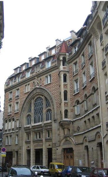 Photo du Monument Historique Immeuble de la Société théosophique situé à Paris 7e Arrondissement