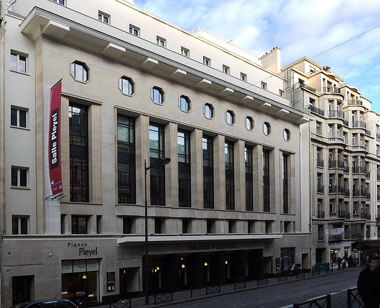 Photo du Monument Historique Salle de concerts dite Salle Pleyel situé à Paris 8e Arrondissement