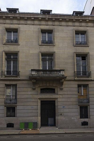 Photo du Monument Historique Hôtel particulier situé à Paris 8e Arrondissement