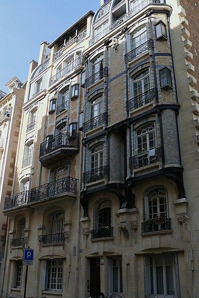 Photo du Monument Historique Immeuble situé à Paris 17e Arrondissement