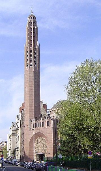 Photo du Monument Historique Eglise Sainte-Odile situé à Paris 17e Arrondissement