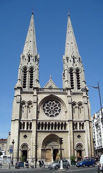 Photo du Monument Historique Église Saint-Jean-Baptiste-de-Belleville situé à Paris 19e Arrondissement