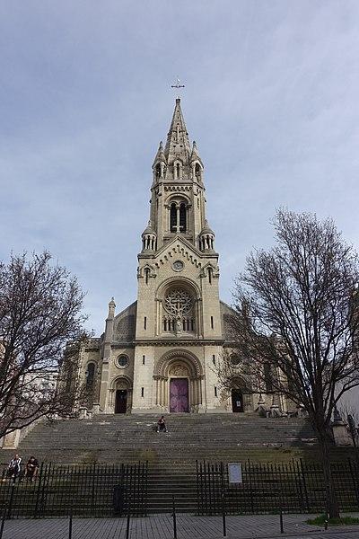 Photo du Monument Historique église Notre-Dame-de-la-Croix situé à Paris 20e Arrondissement