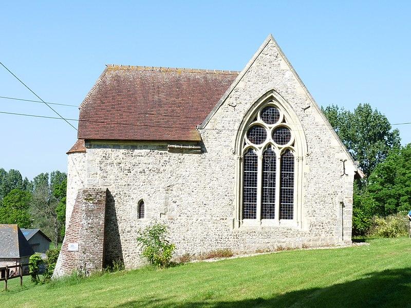 Photo du Monument Historique Chapelle Saint-Julien sise au hameau de Flainville situé à Bourg-Dun (Le)