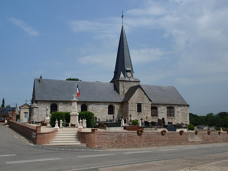 Photo du Monument Historique Eglise situé à Bourville