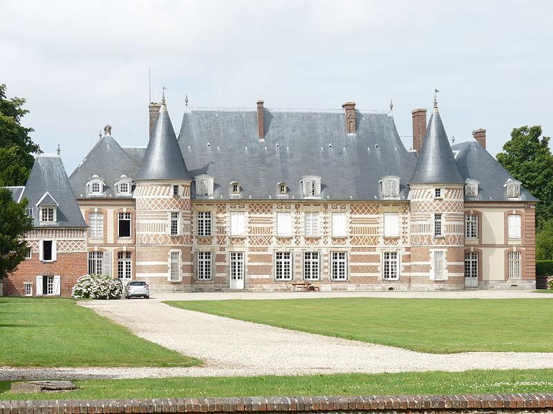 Photo du Monument Historique Château de Catteville situé à Ocqueville