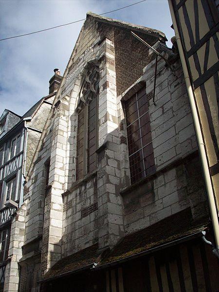 Photo du Monument Historique Ancienne église Sainte-Croix-des-Pelletiers situé à Rouen