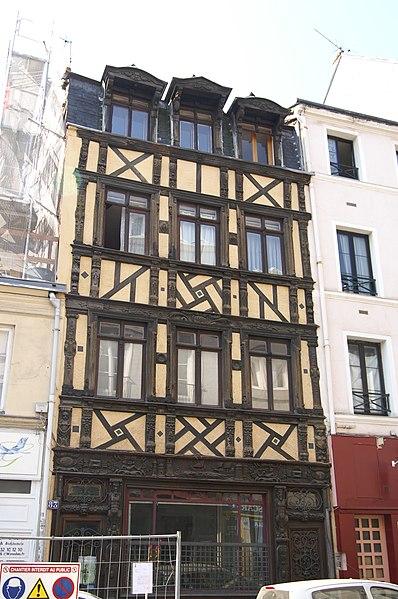 Photo du Monument Historique Maison de bois situé à Rouen
