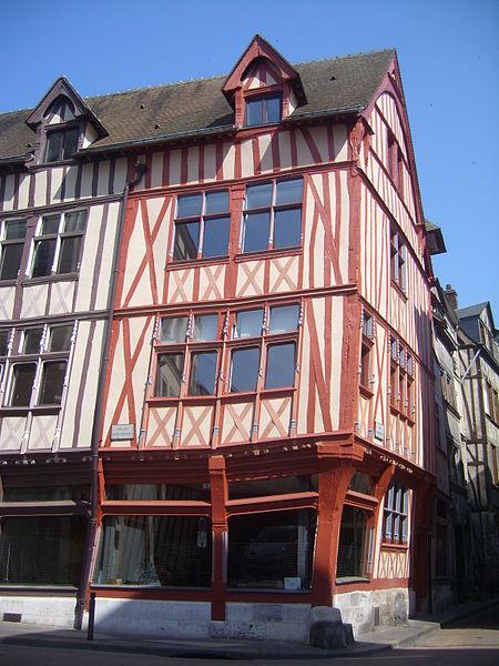 Photo du Monument Historique Maison gothique situé à Rouen