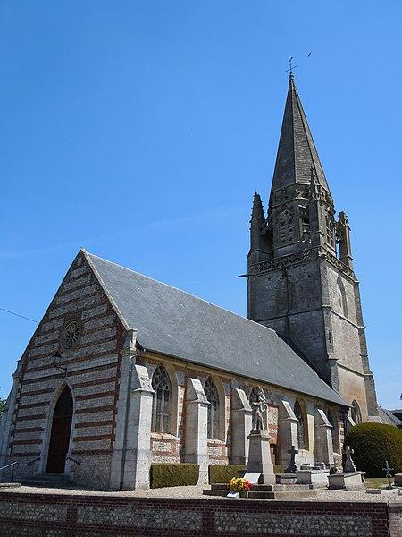 Photo du Monument Historique Eglise Notre-Dame situé à Valliquerville