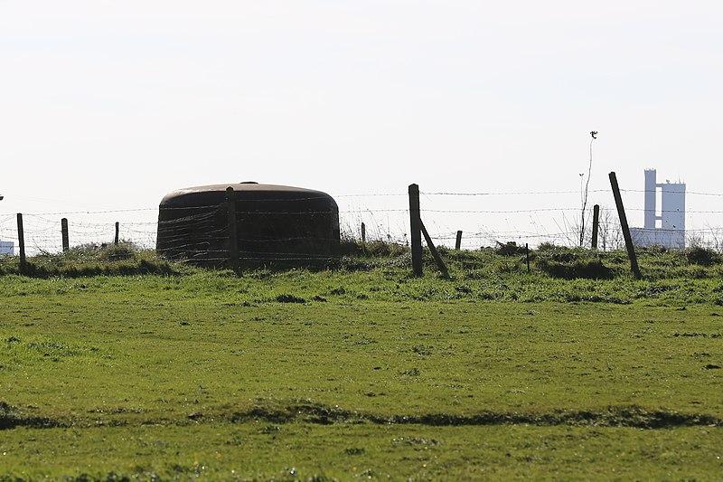 Photo du Monument Historique Abri type R 634 situé à Octeville-sur-Mer