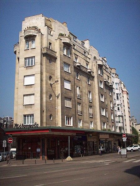 Photo du Monument Historique Immeuble le Métropole situé à Rouen