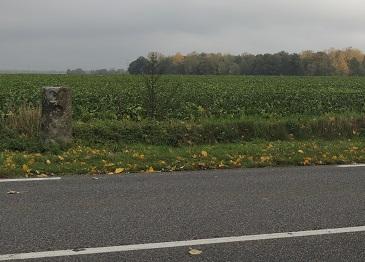 Photo du Monument Historique Borne fleurdelysée n° 27 situé à Aubepierre-Ozouer-le-Repos