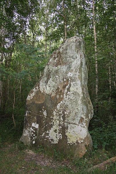 Photo du Monument Historique Menhir dit la Pierre-Fitte ou Pignon de Sainte-Aubierge situé à Beautheil