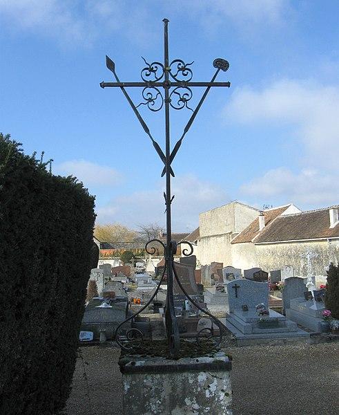 Photo du Monument Historique Croix de cimetière situé à Flagy