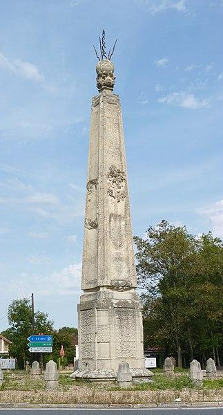 Photo du Monument Historique Obélisque dit Obélisque de Villeneuve-le-Comte, située dans la forêt de Crècy (également sur communes de Villeneuve-le-Comte et Dammartin-sur-Tigeaux) situé à Mortcerf