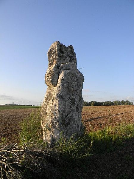 Photo du Monument Historique Menhir dit La Pierre Clouée ou Pierrefritte situé à Nanteau-sur-Lunain
